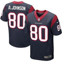 Nike Elite Mens Houston Texans http://#80 Andre Johnson Team Color Navy Blue NFL Jersey $129.99