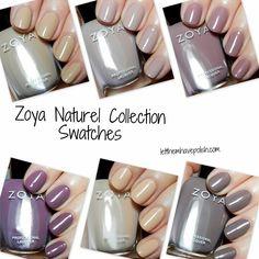 Zoya Naturel Collection Swatches