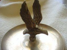Vintage Brass Men's Trinket Tray with Eagle