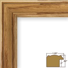 Craig Frames 59504100 8 by 10-Inch Picture Frame, Wood Grain Finish, 1.25-Inch Wide, Honey Oak >>> Visit the image link more details. (This is an affiliate link) #PictureFrames