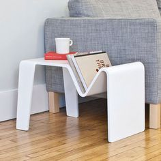 Tre Table White by Isaac Krady