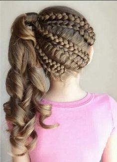 Party Hairstyles for girls - Peinados de Fiesta para niñas Little Girl Braid Hairstyles, Little Girl Braids, Kids Braided Hairstyles, Girls Braids, Party Hairstyles, Cool Hairstyles, 1940s Hairstyles, Wedding Hairstyles, Medium Hair Styles