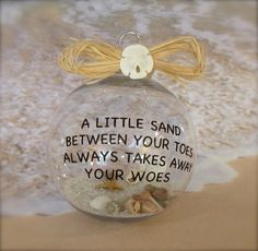 Beach Christmas Ornament Nautical Decor by SimplySeasonals on Etsy
