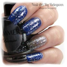 Nail Art by Belegwen: Shimmer Polish: Bernice