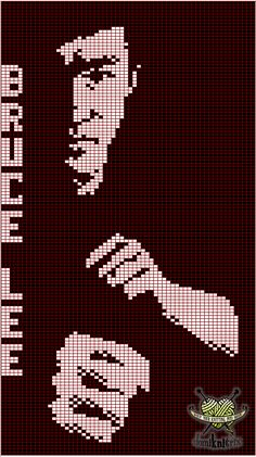 Free Bruce Lee Knitting Chart