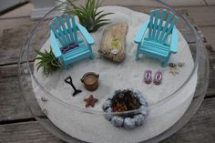 Miniature Beach Vacation with Campfire