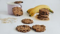 3 ingredients cookies: oats, banana and raisins Healthy Tacos, Healthy Pizza, Healthy Breakfast Muffins, Breakfast For Kids, Healthy Recipe Videos, Easy Healthy Recipes, Easy Cookie Recipes, Dog Food Recipes, Easy Pasta Sauce