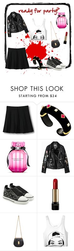 """looks cool"" by little-dot-cc ❤ liked on Polyvore featuring WithChic, Margot McKinney, Victoria's Secret, RED Valentino, Lancôme and Chloé"