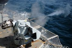 HMS Westminster's 30-millimetre gun