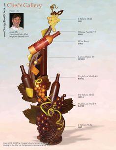 CG130 Stéphane Tréand's Chocolate Wine themed Showpiece