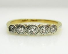 Diamond Ring Old Mine Cuts