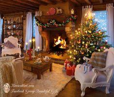 Cozy christmas living room decor and design ideas 13 ~ Popular Living Room Desig. Elegant Christmas, Cozy Christmas, Christmas Trees, Beautiful Christmas, Christmas 2019, Christmas Lunch, Christmas Cactus, Primitive Christmas, Christmas Bells