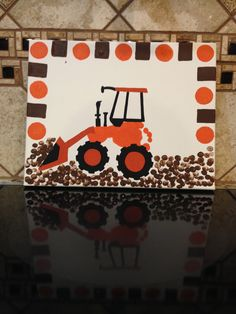 Loader Footprint Art, along with picture of making the craft