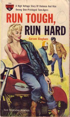 RUN TOUGH, RUN HARD // pulp art vintage cover paperback