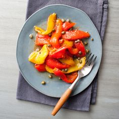Roasted Peppers with Caper Dressing Recipe - Quick From Scratch Italian | Food&Wine
