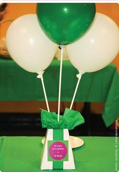 """white blumeboxes were dressed up with decorative ribbon and customized stickers for this adorable """"Barney"""" themed birthday party. Barney Birthday Party, Barney Party, 2 Year Old Birthday, Birthday Bash, Birthday Parties, Birthday Ideas, Bouncy House, Barney & Friends, Get The Party Started"""