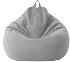 Classic Bean Bag Sofa Chairs Without Filler, Lazy Lounger Bean Bag Storage Chair Cover for Adults and Kids Indoor Outdoor for Home Garden Lounge Living Room (Clear Gray) Bean Bag Storage, Storage Chair, Toy Storage, Large Bean Bag Chairs, Large Bean Bags, Bean Bag Couch, Cool Bean Bags, Classic Bean Bags, Gray