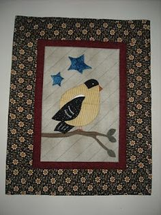 Love this little gold finch quilt