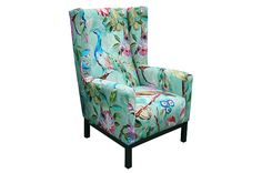 The JIMMY POSSUM Willi Occasional Chair in Blenheim Celadon #autumnwinter13 #loungeroom #supacentamoorepark
