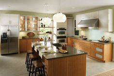 St. Lucia and Sumter... I like the counter/floor color...clean lines of cabinets.