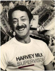 HARVEY MILK   1975 harvey at opening of 1975 campaign estate of harvey milk james c ...