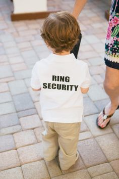 So cute for ring bearer to wear before the wedding