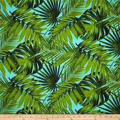 Terrasol Indoor/Outdoor Tropical Fronds Aruba from @fabricdotcom  This great outdoor fabric is stain and water resistant, perfect for outdoor settings and indoors in sunny rooms. It is fade resistant up to 500 hours of direct sun exposure. Create decorative toss pillows, chair pads, tabletop and tote bags. To maintain the life of the fabric bring indoors when not in use. This fabric can easily be cleaned by wiping down or hand washing with warm water and a mild soap solution, simply rinse…