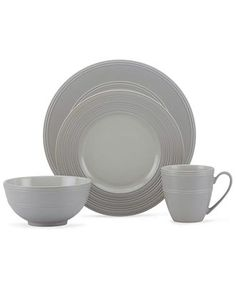 kate spade new york Dinnerware Fair Harbor Oyster 4 Piece Place Setting - Casual Dinnerware - Dining \u0026 Entertaining - Macy\u0027s Bridal and Wedding Registry  sc 1 st  Pinterest & Gorham Dinnerware Breckenridge Round 40 Piece Set at Macy\u0027s $320 ...