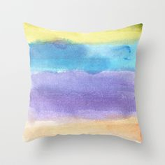 watercolor abstract painting Throw Pillow by humble art by dana&reese - $20.00 Watercolor Paintings Abstract, Throw Pillows, Art, Art Background, Toss Pillows, Cushions, Kunst, Decorative Pillows, Performing Arts