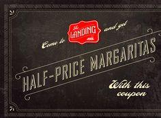 Half-price margaritas