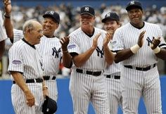 Yogi Berra, Reggie Jackson, Rich Gossage, Wade Boggs and Dave Winfield. (Wow!) Source: http://bleacherreport.com/articles/220527-nobody-does-tradition-like-the-new-york-yankeesold-timers-still-a-hit