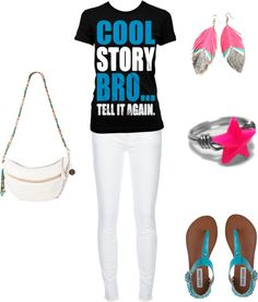 """""""Cool Story Bro... Tell it again."""" by hannah-king-1 on Polyvore"""