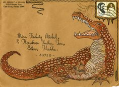Envelope decorated by Herbert A. Franke and addressed to Koreshan Unity President Hedwig Michel, Estero, Florida | Flickr - Photo Sharing!
