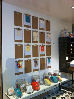 Using clipboards for display of student work, mini posters, etc.