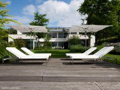 Tumbona de jardín reclinable en Batyline® SIESTA LOUNGE by FueraDentro diseño Hendrik Steenbakkers