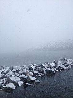 Snow at Sea