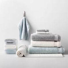 Solid Bath Towels - Made By Design™ Blue Towels, Soft Towels, White Towels, Hand Towels, Large Baths, Bath Sheets, Bath Towel Sets, Bath Rugs, Rectangle Shape