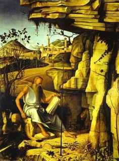 St. Jerome in the Desert by Bellini