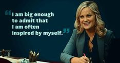 Parks And Rec Quotes, Parks N Rec, Parks And Recreation, Leslie Knope Quotes, Dry Sense Of Humor, Quirky Quotes, I Want To Cry, Amy Poehler, Laughing And Crying