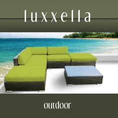 Gazebo 6 pc Wicker Modern Patio Furniture PERIDOT
