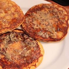 SWEET POTATO PROTEIN PANCAKES: may try this but tinker w adding whole eggs and no sweetener.