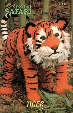 -Safari Tiger Crochet Pattern Animal Annies Attic Toy - Dolls & Toys