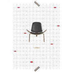 """Poster Cadeira """"Shell"""" - - Coleção Mercatto Casa e Apto 41"""
