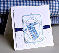 Clean and simple cards for a baby boy