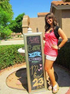 Announcing Baby Mac: Chalkboard Pregnancy