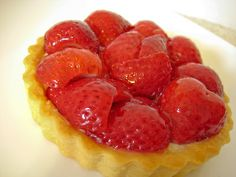 strawberri glaze, strawberri tart