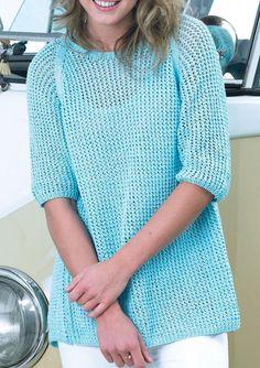 Women's sweater knitting pattern