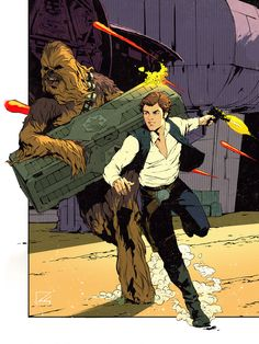 star wars When Han Met Chewie Grant Griffin Star Wars Comics, Star Wars Art, Han Solo And Chewbacca, Star Wars Wallpaper, Comic Styles, Freelance Illustrator, Comic Art, Comic Books, Science Fiction