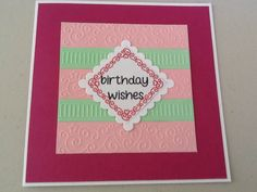 Card made from Die cutting essentials uk special edition. Using free embossing folder and stamps that came with it