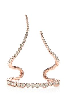 M'O Exclusive: Rose Gold Plated Single Row Wrap Bracelet by Ryan Storer for Preorder on Moda Operandi